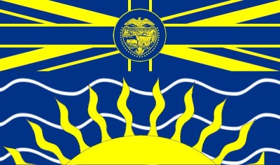 The flag of Oregon, with
