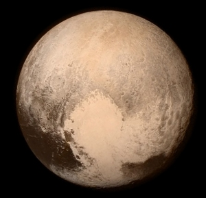 "The ""heart"" of Pluto from 476,000 miles.  Image taken by New Horizons on 13 July 2015. Source:   NASA/APL/SwRI"