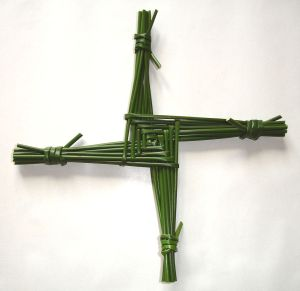 Brigid's cross, a pre-Christian symbol associated with the Celtic goddess Brigid.