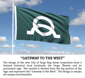 A flag with a name: Gateway to the West.