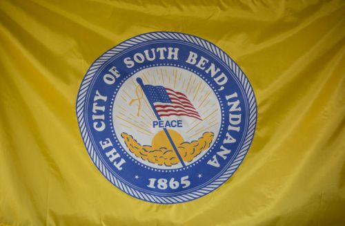 The current flag of South Bend, Indiana. The chair of SB150 has said:
