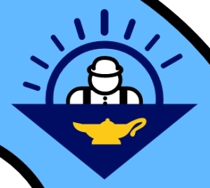 "Milwaukee's mysterious ""Aladdin's Lamp"" icon (detail from current city flag)."