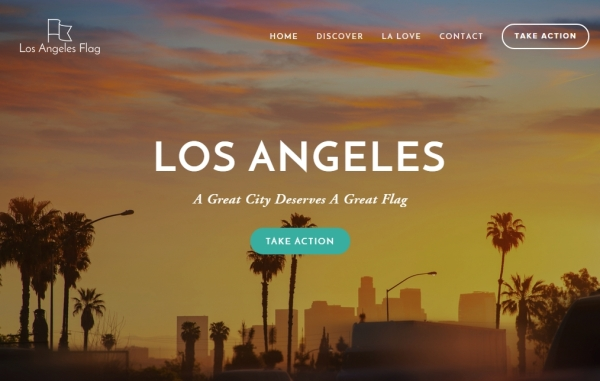 Welcome page at losangelesflag.org.