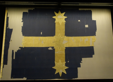 The original Eureka Flag, Australia's origin flag, is conserved in Ballarat.