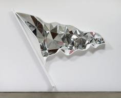 Doug Aitken: Flag (mirror), 2015. Mirror, fiberglass, and resin.