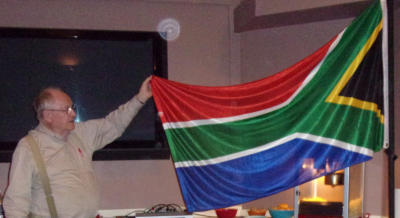 The exception that proves the rule:  David Ferriday admires how South Africa's flag uses all six basic flag colors to profoundly meaningful effect.