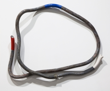 Roman Ondák: Flag, 2015. Lead pipe, paint.