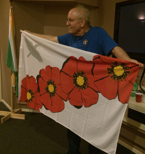 Helen Rogers' Poppy Flag, recently acquired by Michael Orelove.
