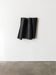 Ricky Swallow: Flag/Parallelogram (soot), 2014. Patinated bronze.