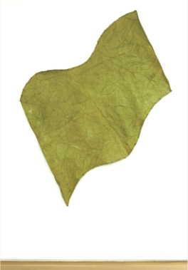 Richard Tuttle: Green Flag, 1971. Dyed canvas and thread.