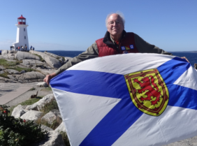 Nova Scotia: Nova Scotia flag…The province has over 160 historic lighthouses. Peggy's Point Lighthouse is one of Nova Scotia's best-known lighthouses and may be the most-photographed in Canada. Located in the quaint fishing village of Peggy's Cove, the lighthouse was built in 1915.