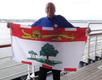 Charlottetown, Prince Edward Island: Prince Edward Island flag…Holland America presented me with the P.E.I.'s provincial flag as we left Charlottetown.
