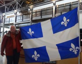 Saguenay, Quebec: Québec flag…Inside the Arthur Villeneuve house museum I spotted a Québec flag flying proudly.