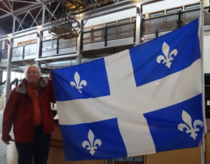 Saguenay, Quebec: Québec flag…Inside the Arthur Villeneuve house museum I spotted a Québec flag flying proudly.