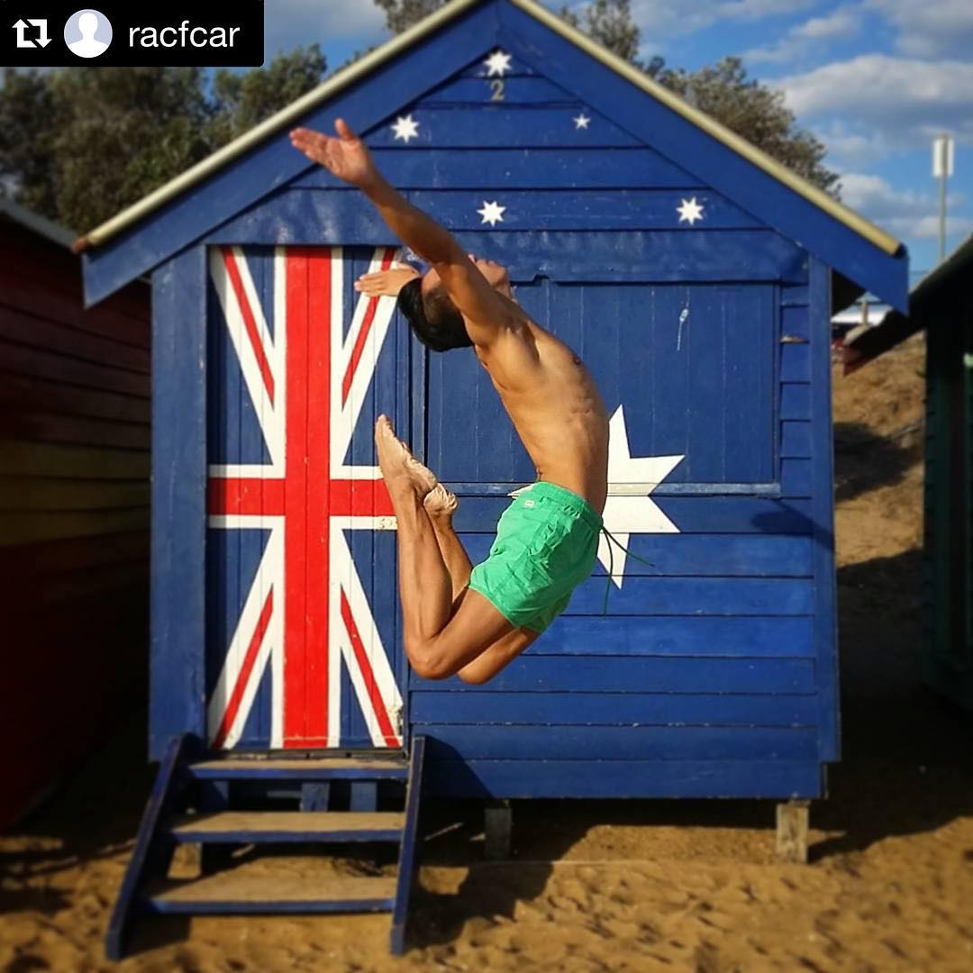 That Australian Flag Bathing Box