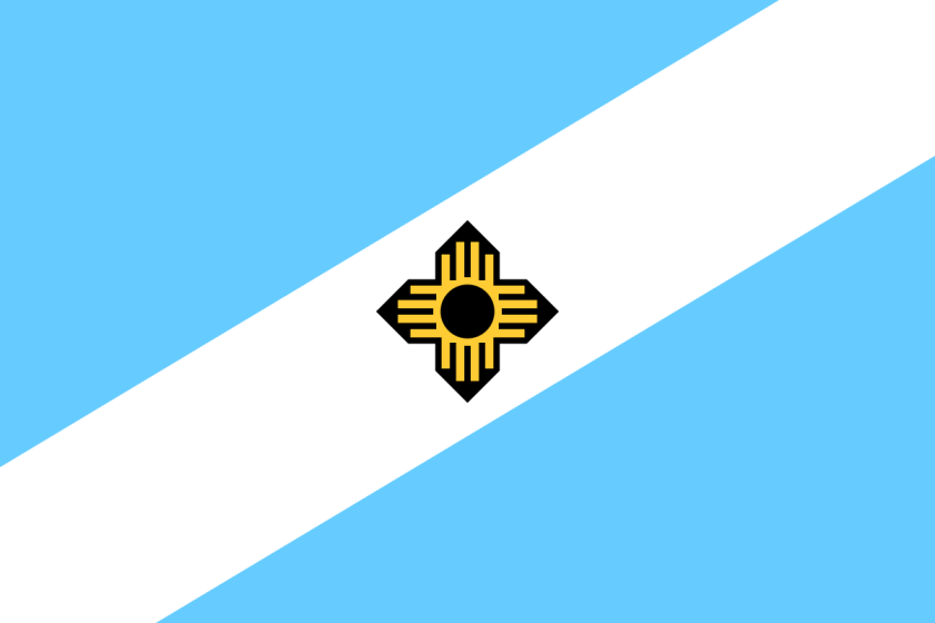 Madison flag with Zia symbol
