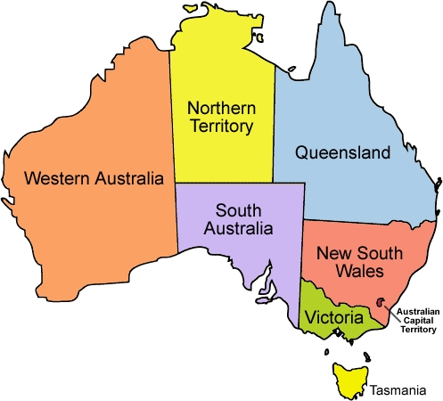 Map Of States Of Australia.New Flags For Australia S States Portland Flag Association