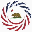 Californian Murican Patriot Flag
