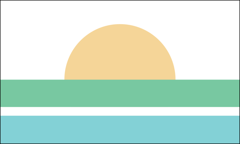 """Andres Franky: """"The flag represents the breathtaking Everglades' sunset that the city is lucky enough to have in its own backyard."""""""
