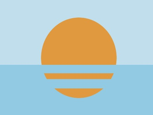 """Nathaniel Aymer: """"This flag symbolizes the motto """"Everything under the sun"""" elegantly with the same refreshing color palette used with the City Of Coral Springs. It is very simple but very distinguishing."""""""
