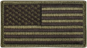 Rothco OD Green / Black American Flag Patch