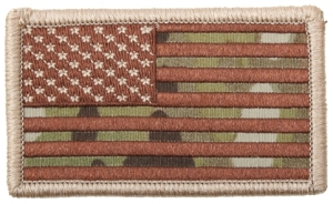 Rothco Forward American Flag Patch-Multicam