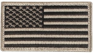 Rothco American Flag Patch - Black/Khaki