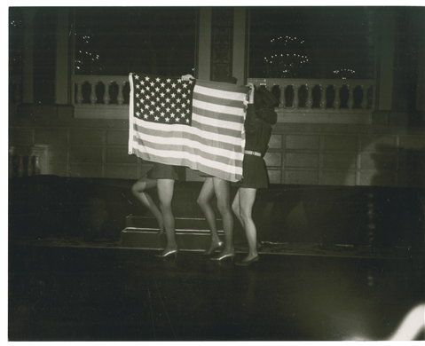 ANDY WARHOL (1928-1987)  Flag with Legs  unique gelatin silver print  8 x 10 in. (20.3 x 25.4 cm.)  Executed circa 1985.
